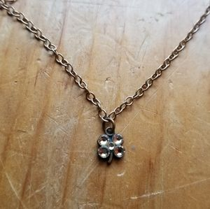 Dainty Shamrock Gold-tone Necklace 🍀